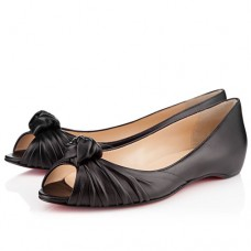 Louboutin Women's Turban Nappa Ballerinas Black