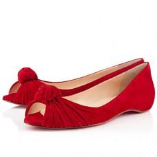 Louboutin Women's Turban Nappa Ballerinas Red