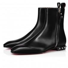 Christian Louboutin Ankle Boots Roadirik Flat Black Calf Men
