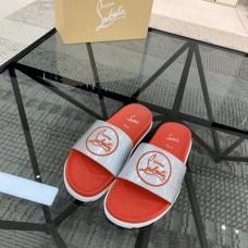 Christian Louboutin Sandals Red Sliver CL Logo