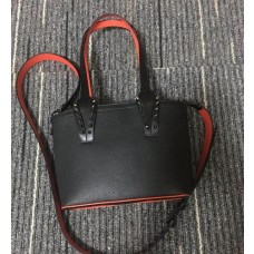 louboutin leather Handbag crossbody bag black with black rivets