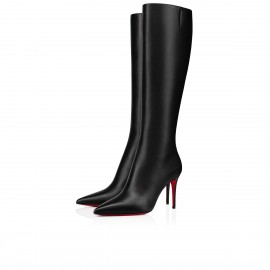 Christian Louboutin Kate Botta 85mm Calf Black Top Boots